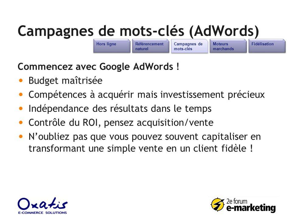 Campagnes de mots-clés (AdWords)