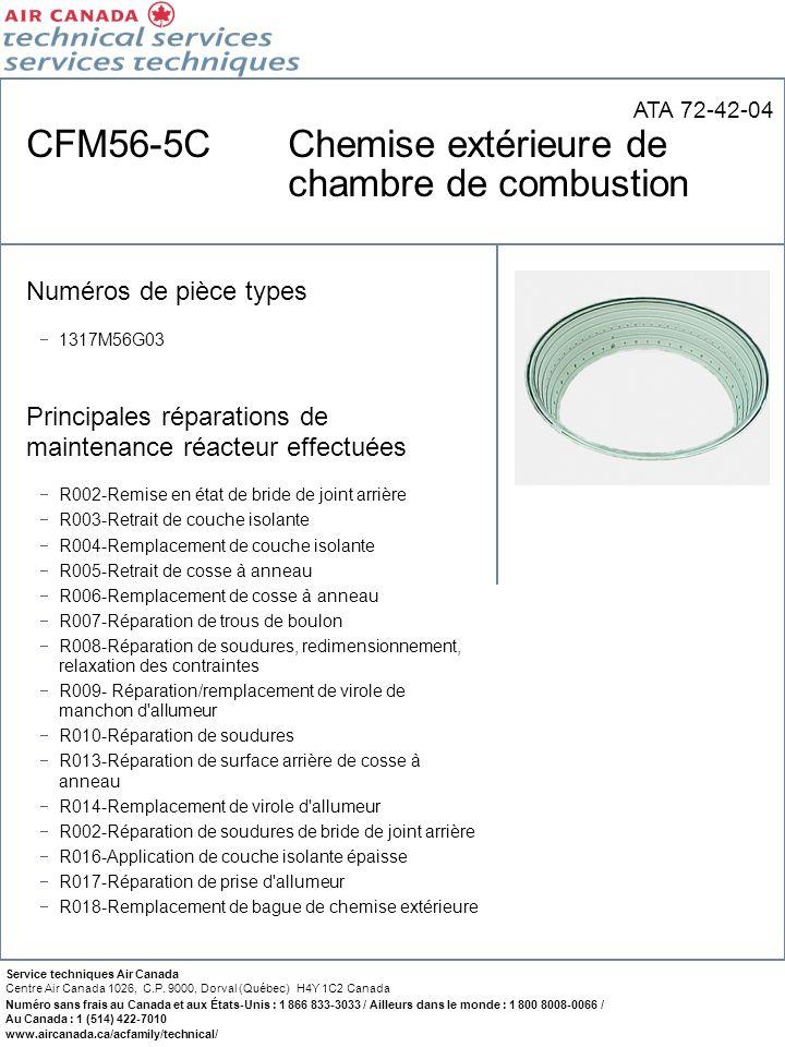 CFM56-5C Chemise extérieure de chambre de combustion