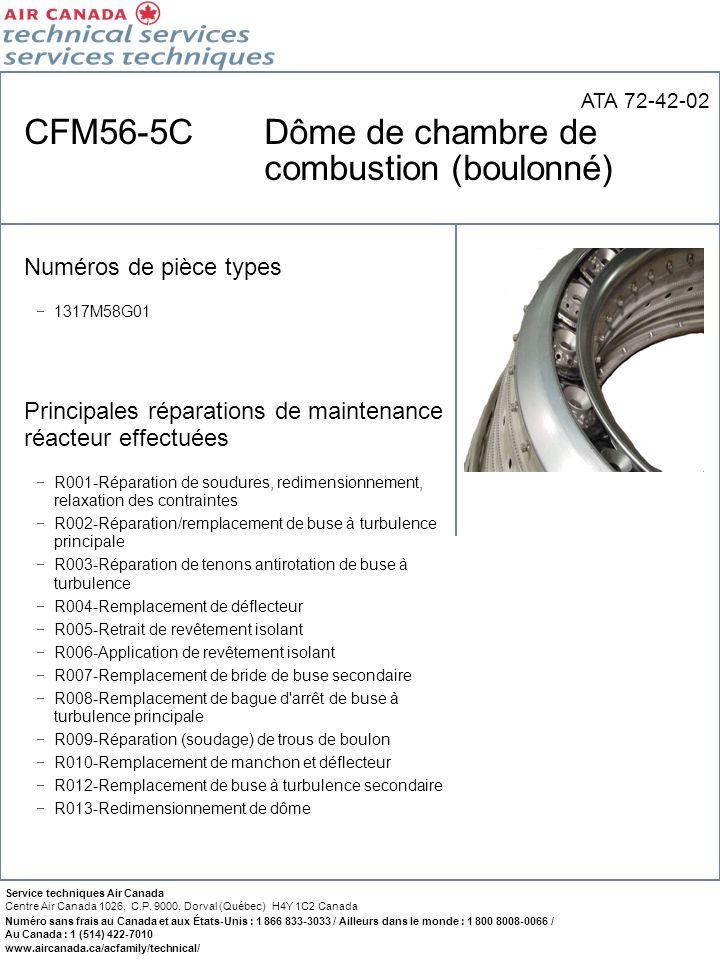 CFM56-5C Dôme de chambre de combustion (boulonné)