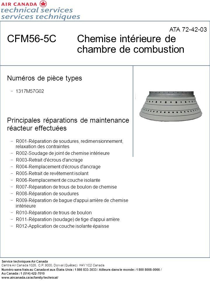CFM56-5C Chemise intérieure de chambre de combustion