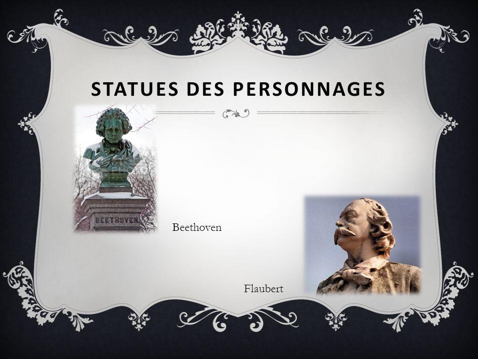 Statues des personnages