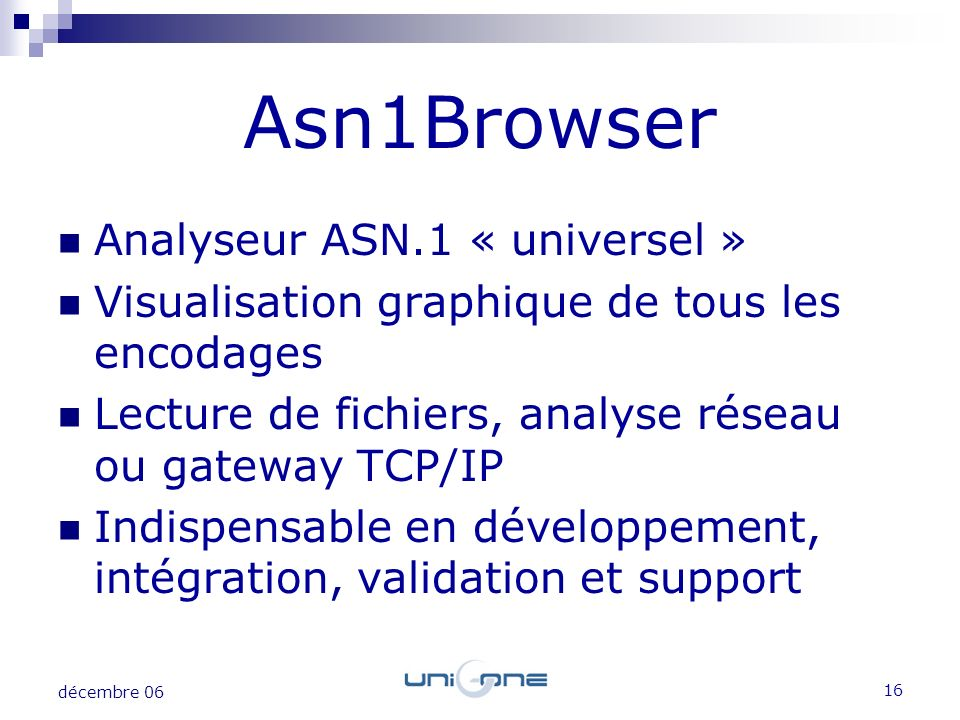 Asn1Browser Analyseur ASN.1 « universel »