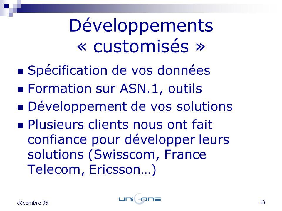 Développements « customisés »