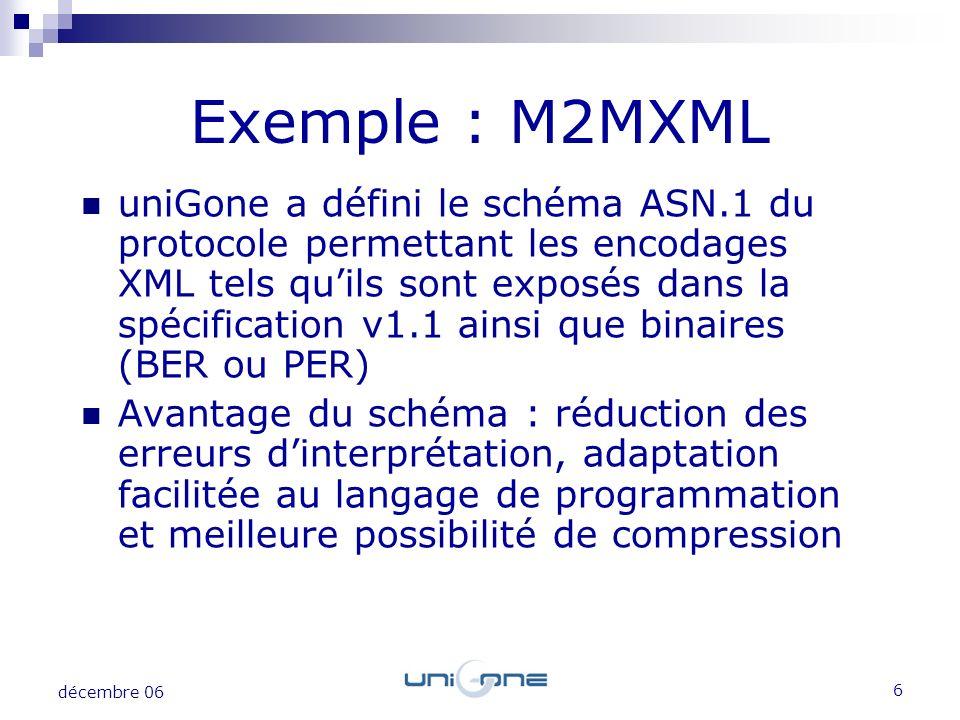 Exemple : M2MXML