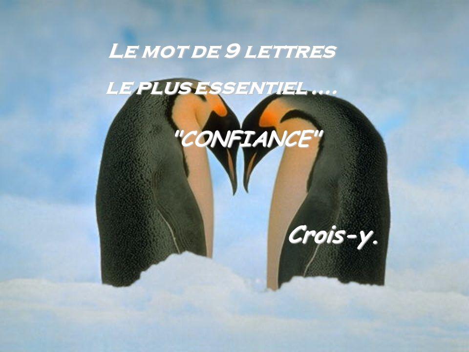Crois-y. Le mot de 9 lettres le plus essentiel .... CONFIANCE