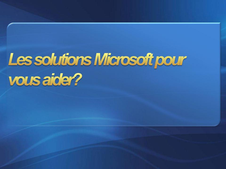 Les solutions Microsoft pour vous aider