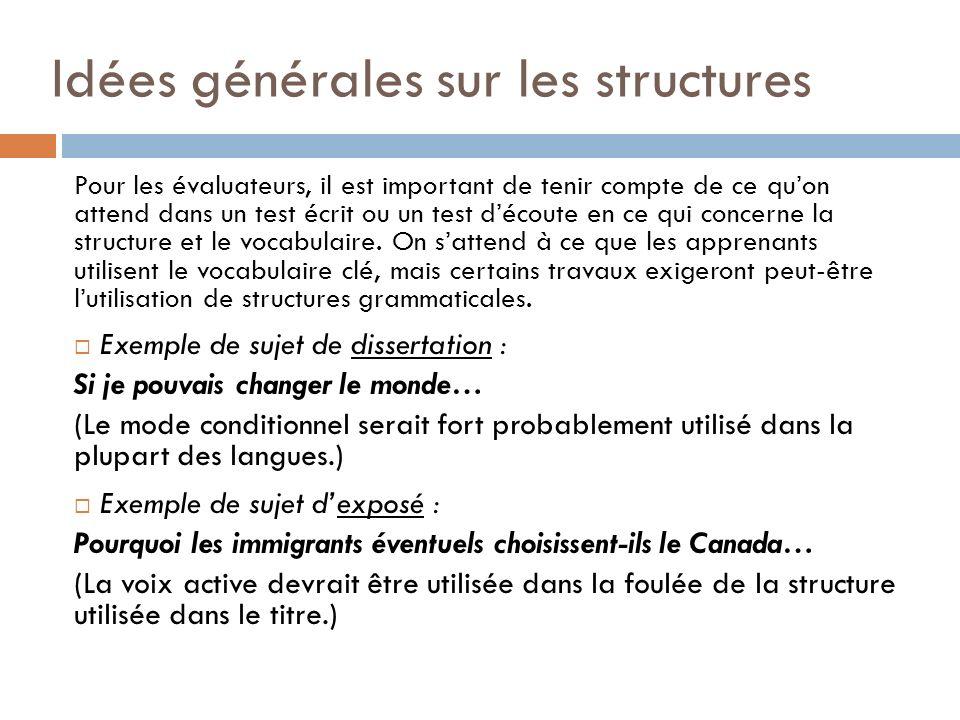 Idées générales sur les structures
