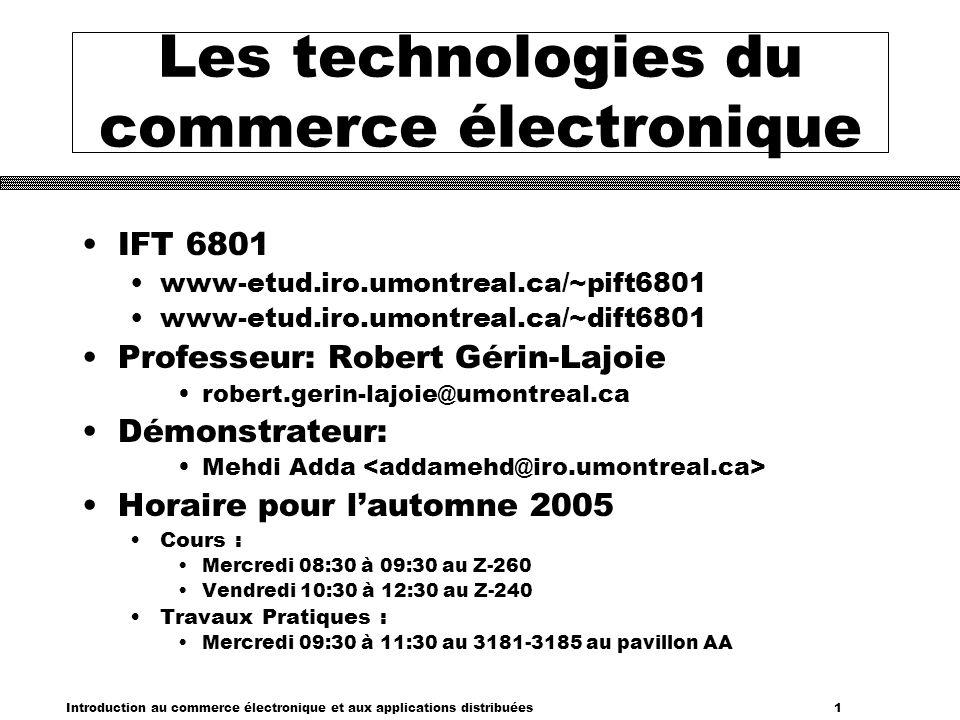 Les technologies du commerce électronique