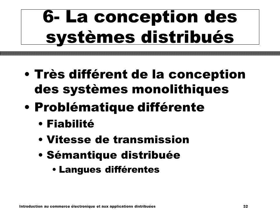 6- La conception des systèmes distribués