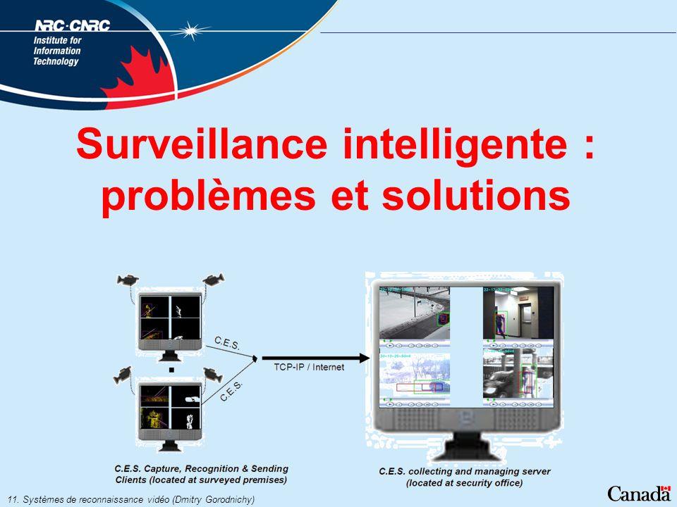 Surveillance intelligente : problèmes et solutions