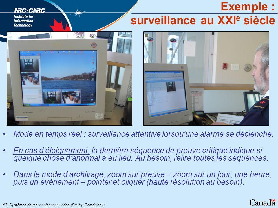 Exemple : surveillance au XXIe siècle
