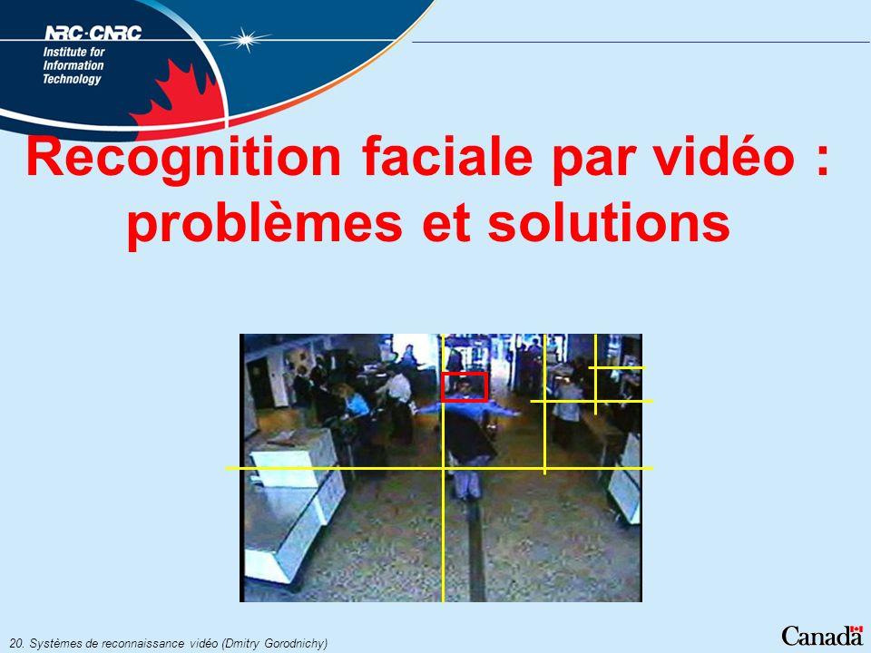 Recognition faciale par vidéo : problèmes et solutions