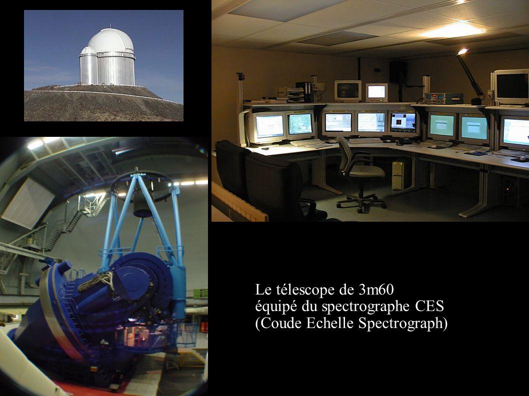 Le télescope de 3m60 équipé du spectrographe CES (Coude Echelle Spectrograph)