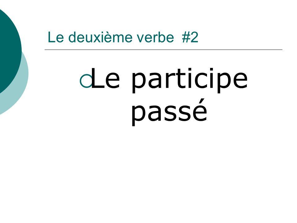 Le deuxième verbe #2 Le participe passé