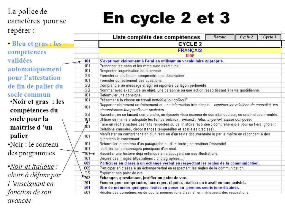 En cycle 2 et 3 La police de caractères pour se repérer :
