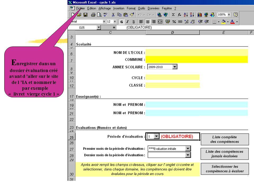 dossier évaluation créé avant d 'aller sur le site