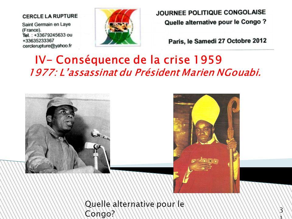 1977: L'assassinat du Président Marien NGouabi.