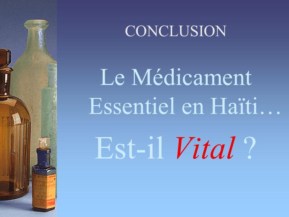 Le Médicament Essentiel en Haïti… Est-il Vital