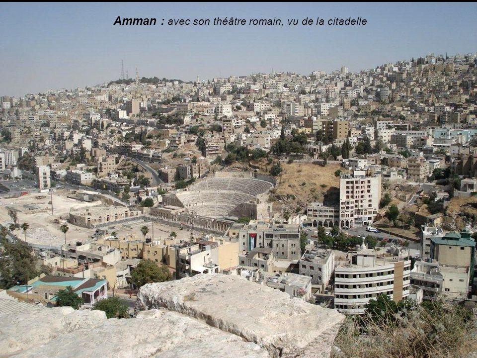 Amman : avec son théâtre romain, vu de la citadelle