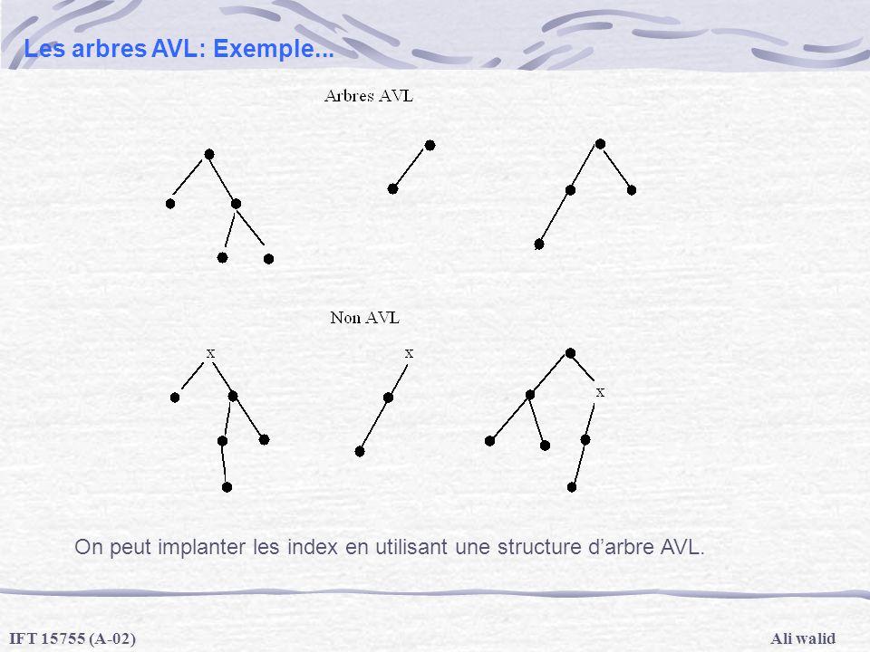 Les arbres AVL: Exemple...