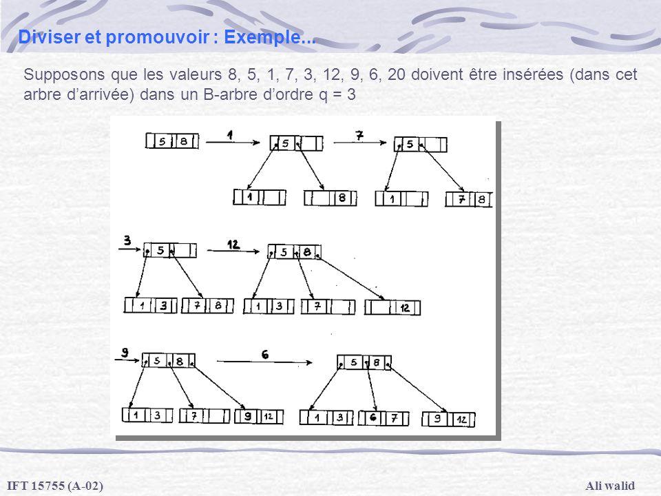 Diviser et promouvoir : Exemple...