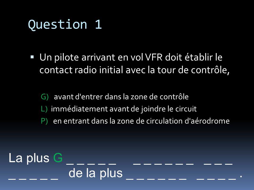 Question 1 La plus G _ _ _ _ _ _ _ _ _ _ _ _ _ _