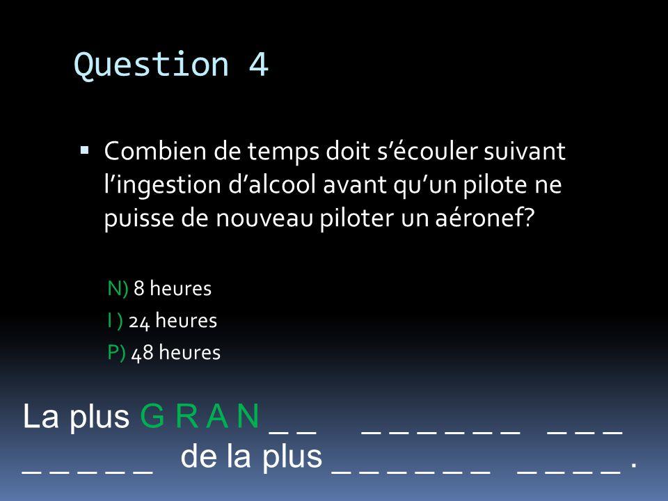 Question 4 La plus G R A N _ _ _ _ _ _ _ _ _ _ _