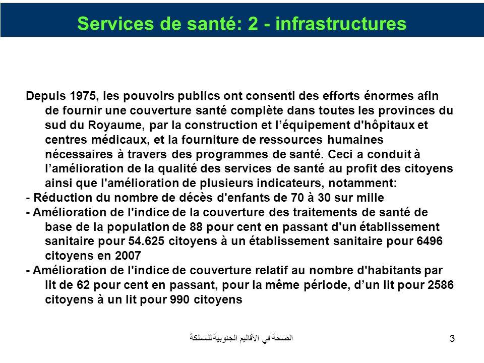 Services de santé: 2 - infrastructures