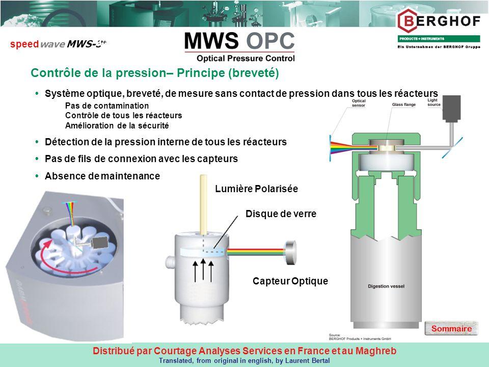 CONTRÔLE DE LA PRESSION – Principe (breveté)