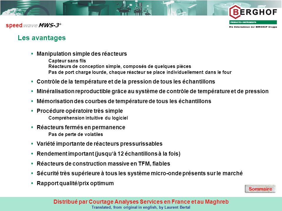 LES AVANTAGES DU MWS3+ Les avantages speedwave MWS-3+