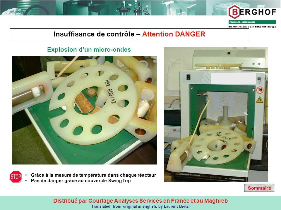 Insuffisance de contrôle – Attention DANGER