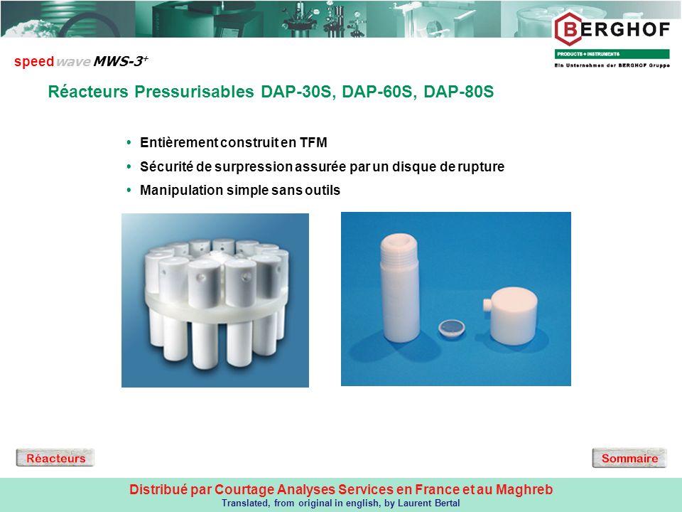 Réacteurs pressurisables type DAP + DAQ