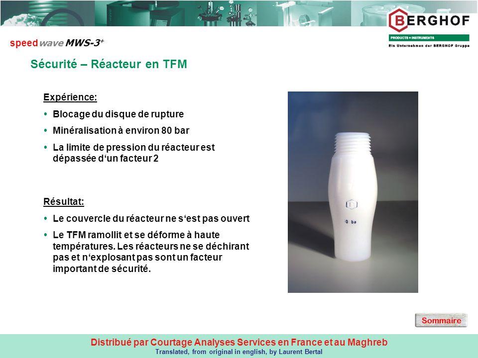 Sécurité – réacteur en TFM