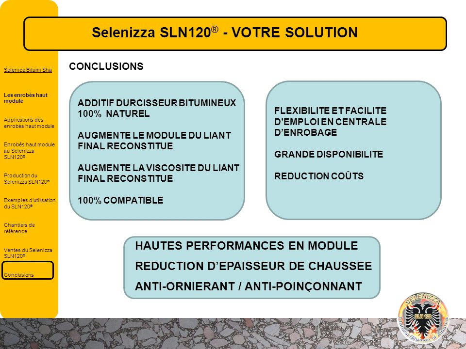 Selenizza SLN120® - VOTRE SOLUTION
