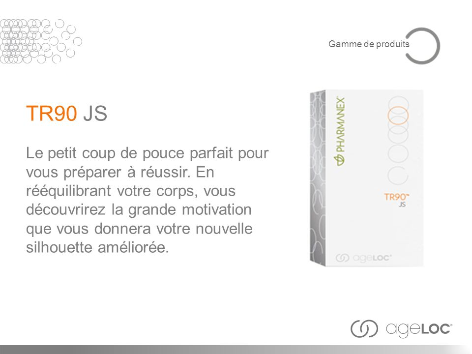 Gamme de produits TR90 JS.
