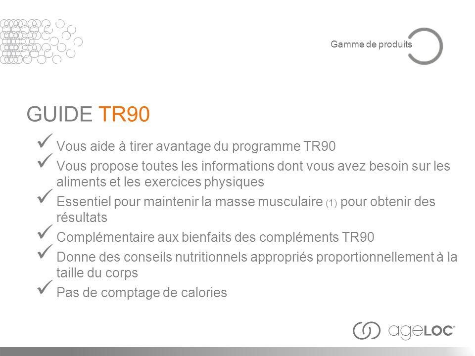 GUIDE TR90 Vous aide à tirer avantage du programme TR90