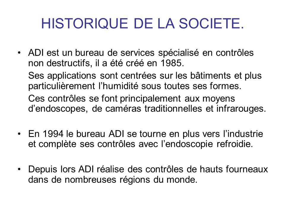 HISTORIQUE DE LA SOCIETE.