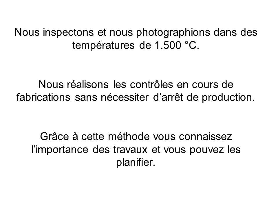 Nous inspectons et nous photographions dans des températures de 1