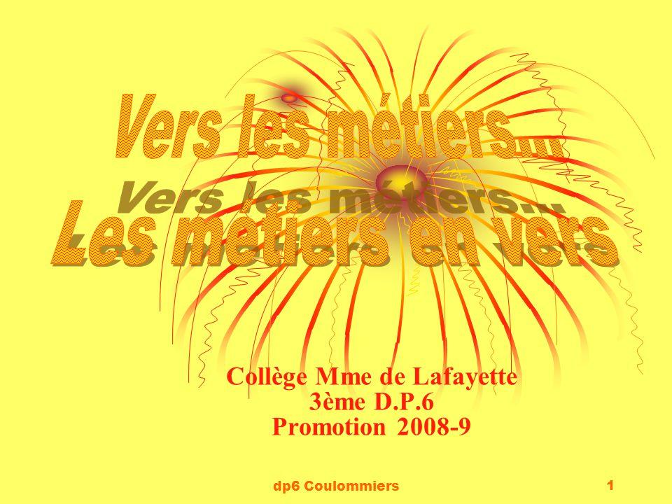 Collège Mme de Lafayette 3ème D.P.6 Promotion 2008-9