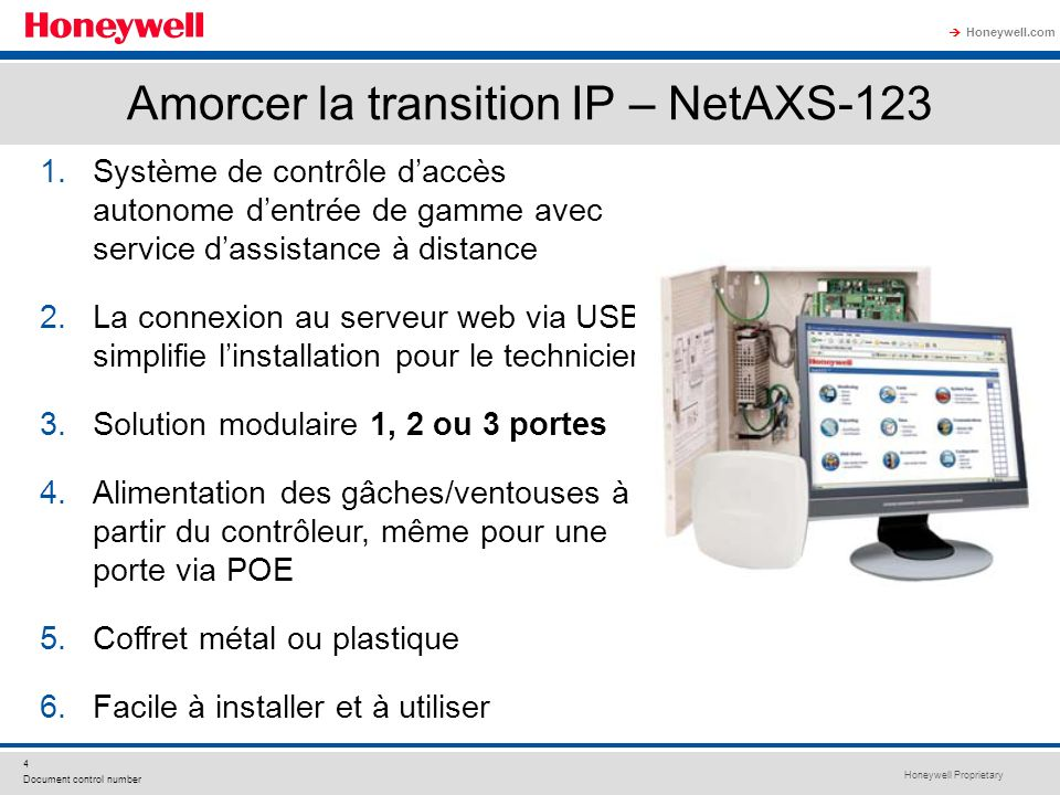 Amorcer la transition IP – NetAXS-123