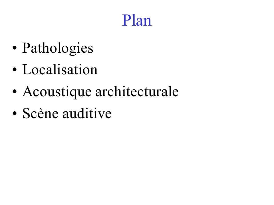 Plan Pathologies Localisation Acoustique architecturale Scène auditive