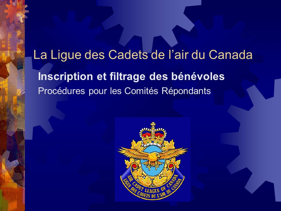 La Ligue des Cadets de l'air du Canada