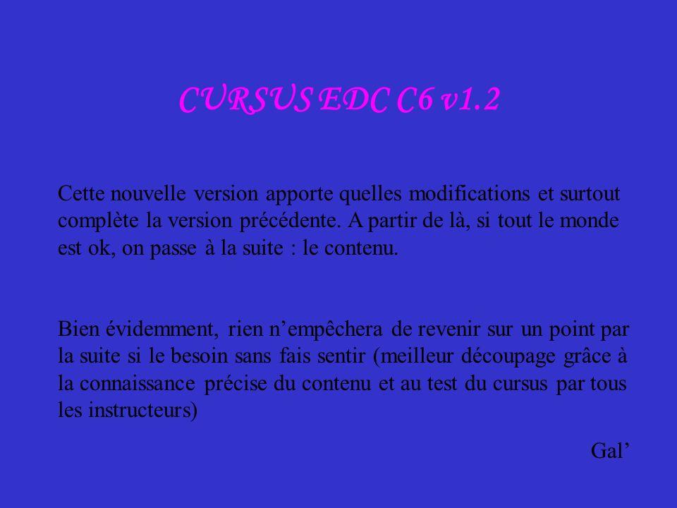 CURSUS EDC C6 v1.2