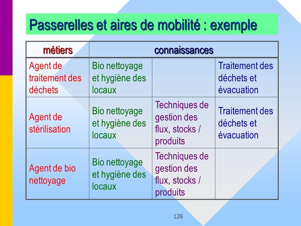 Passerelles et aires de mobilité : exemple