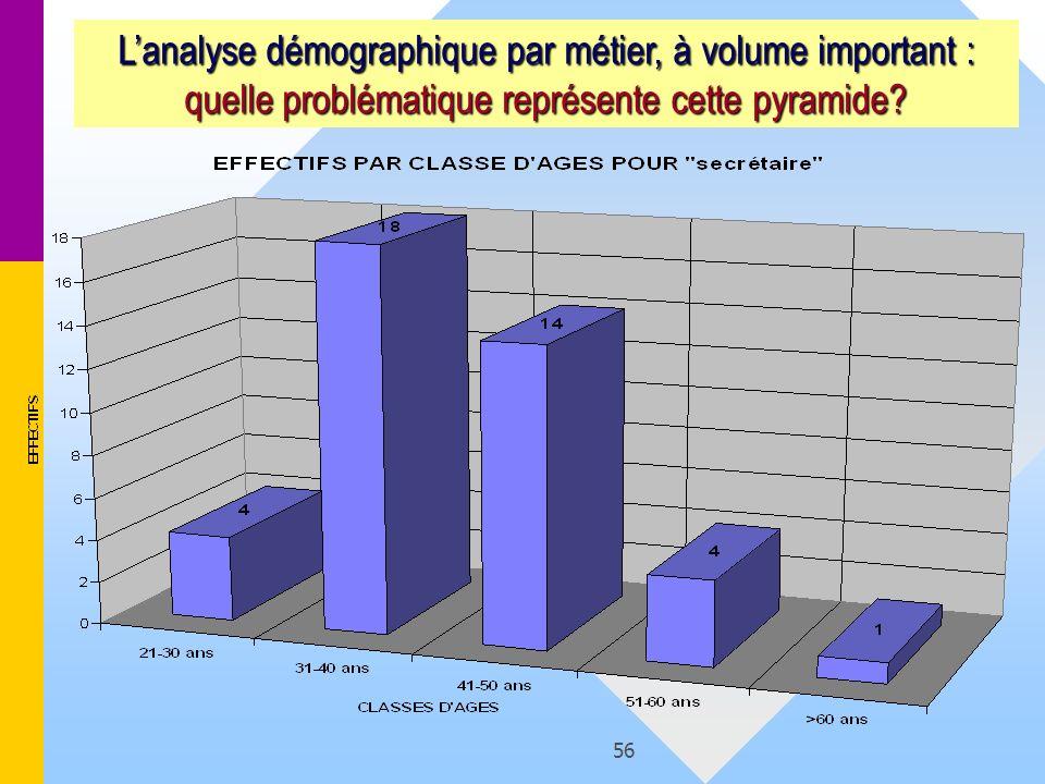 L'analyse démographique par métier, à volume important : quelle problématique représente cette pyramide