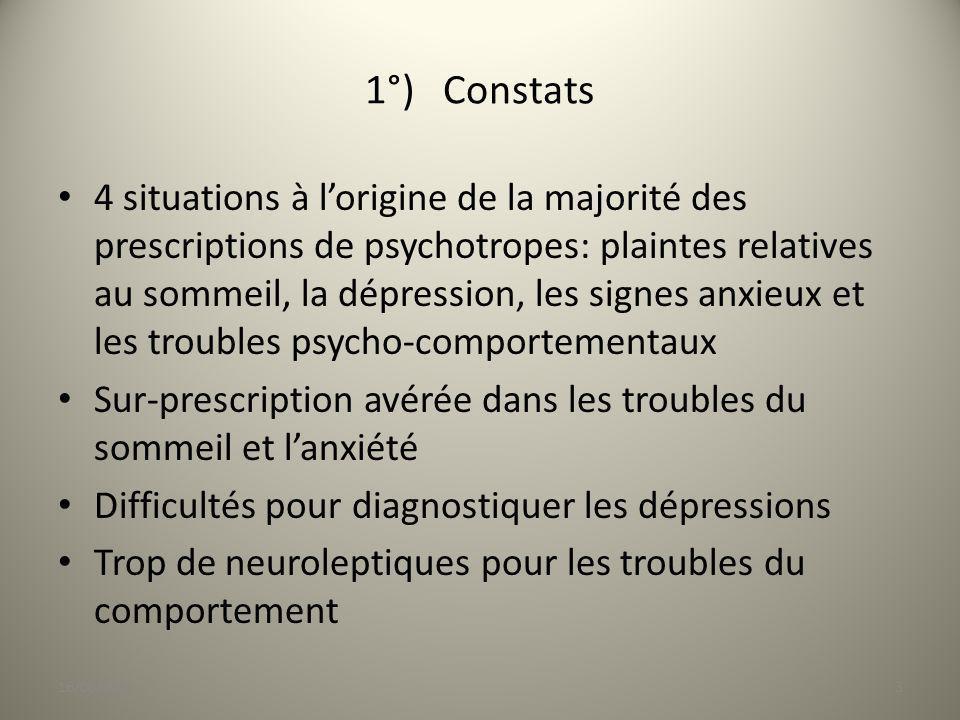 1°) Constats