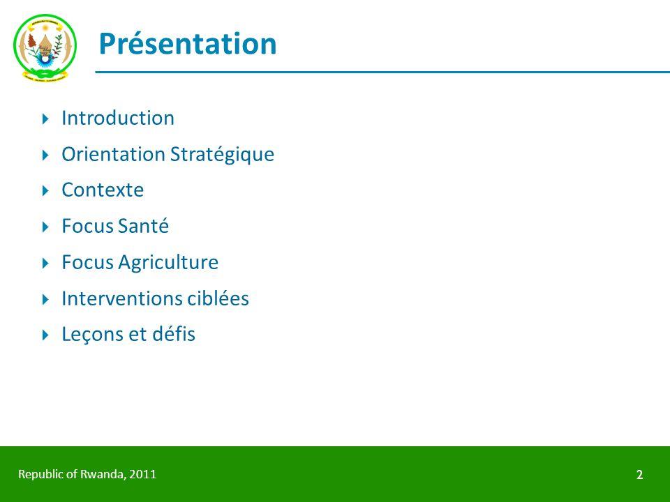 Présentation Introduction Orientation Stratégique Contexte Focus Santé