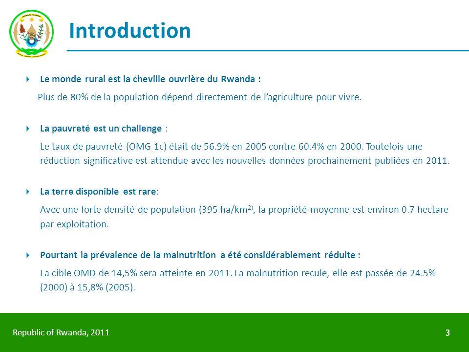 Introduction Le monde rural est la cheville ouvrière du Rwanda :