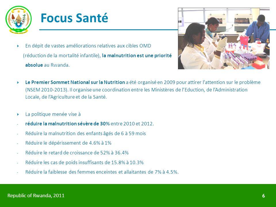 Focus Santé En dépit de vastes améliorations relatives aux cibles OMD