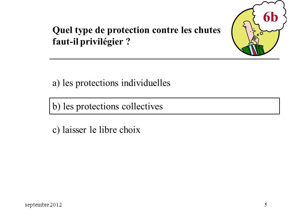6b Quel type de protection contre les chutes faut-il privilégier